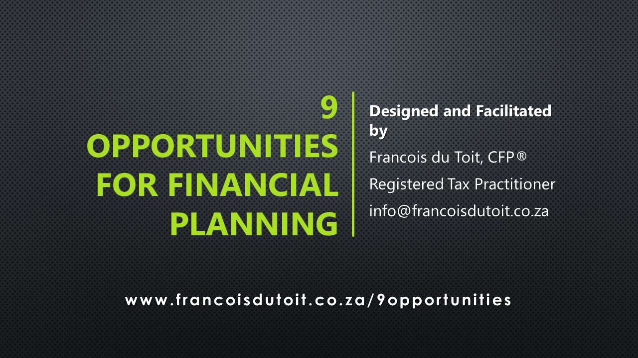 9 Opportunities for financial planning from a client's Income Tax assessment