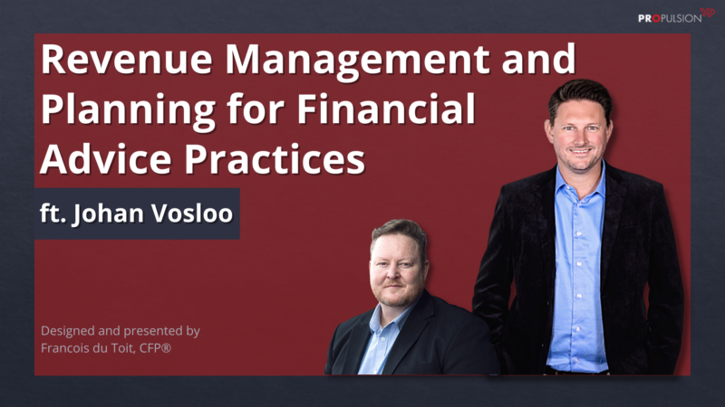Revenue Management and Planning for Financial Advice Practices